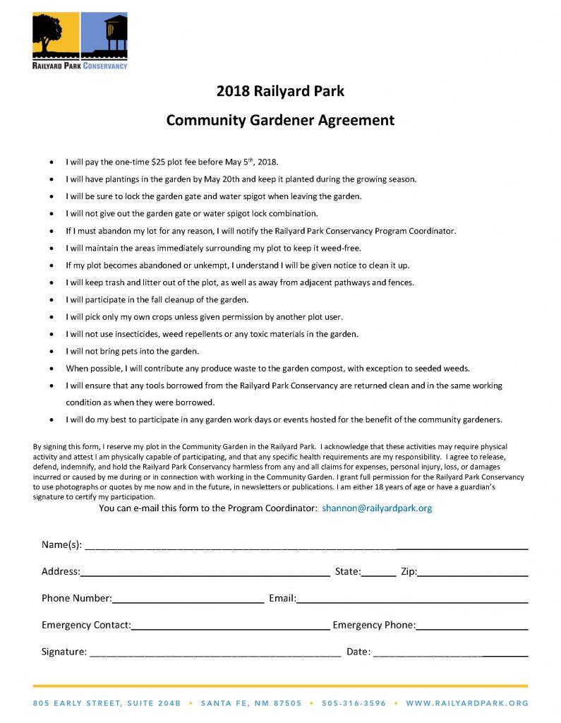 Community Garden Application & Questionnaire 2018_12FEB2018